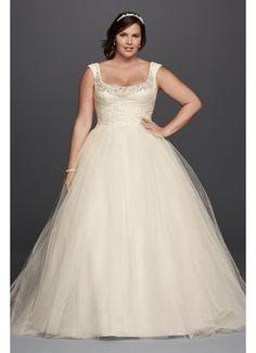 Oleg Cassini Off the Shoulder Lace Wedding Dress 8CWG733