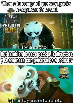 El saca packs :v Memes Do Momento, Best Memes, Dankest Memes, Spanish Memes, Kung Fu Panda, Quality Memes, Comedy Central, Funny Cute, Funny Images