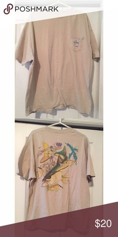 Men's Guy Harvey Original Tee This Guy Harvey Tee is comfy & great for everyday wear. Tag is XXL but fits L/XL. Great condition! Guy Harvey Shirts Tees - Short Sleeve