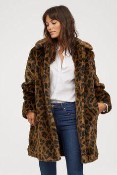 d3ff437214 Brown Faux Fur Coat, Faux Fur Jacket, Vest Jacket, Leopard Coat, Leopard