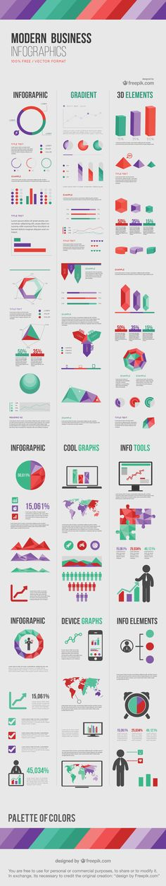 "Freebie Release: ""Modern Business"" Infographic Elements"