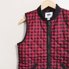 "Buffalo Plaid Quilted Vest Our personal winter favorite - buffalo plaid - in a classic quilted vest. Perfect for chilly afternoon exploring!  Bust: 18.5"" Length: 25""  100% Synthetic Materials  *Please note: measurements are taken flat  ALL OFFERS CONSIDERED  ✂️ 20% OFF all bundles of 2+ items✂️ Old Navy Jackets & Coats Vests"