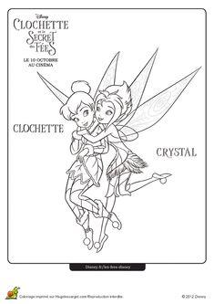 coloriage de crystal enlaant la fe clochette