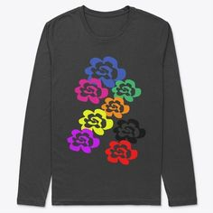 """Grab the latest design """"Floral-Bunch"""" tees for $26.99 only at U.H. Creation.  This is a very comfortable, high quality t-shirt available in two colors, white and block!  Get a complete collection of the design on socks, leggings and more!"""