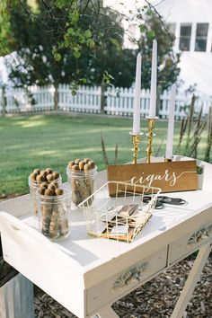 Unique Wedding Catering Ideas for the Big Day – MyPerfectWedding Cigar Bar Wedding, Cigar Party, Wedding Reception, Our Wedding, Dream Wedding, Table Wedding, Wedding Signage, Bar A Bonbon, Wooden Wedding Signs