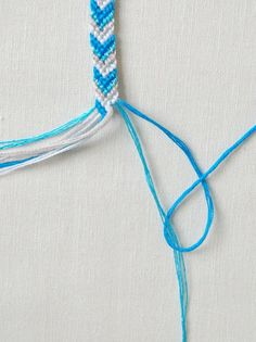 Macraméd friendship bracelets were all the rage when I was growing up in  the eighties. All the girls at my school would obsessively make them  for one another in a dizzying variety of colors, widths, and patterns.  It's amazing, thinking back, that such young girls could make such  beautifully intricate accessories. I, of course,  tried my hand at  making them as well. I would ride my bike down to the five-and-dime  store and pick out the most sophisticated color combinations of …