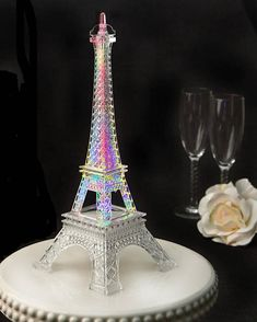 Eiffel Tower Centerpiece Cake Topper with Colorful LED Lights Party Table Decoration Clear or Gold Paris Room Decor, Paris Theme, Paris Party Decorations, Paris Sweet 16, Eiffel Tower Centerpiece, Paris Birthday, 10th Birthday, Birthday Parties, Eiffel Tower Painting