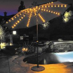 A lighted umbrella makes any gathering more festive!