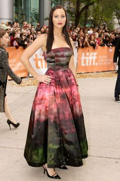 In Christian Dior at the Toronto International Film Festival Silver Linings Playbook premiere. ♥♥♥