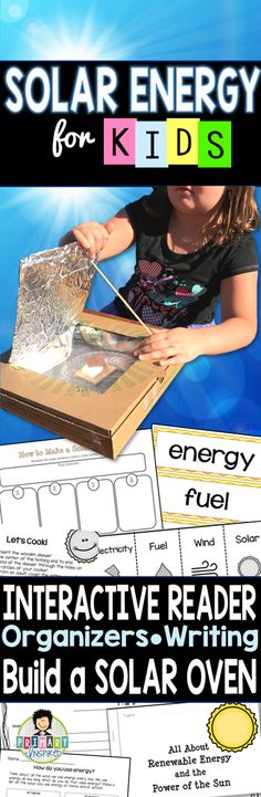 Kids learn about solar energy & make solar ovens! This will be great to as an extension to the solar eclipse!