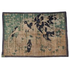 Unusual Baotou Suiyuan Pictorial Rug | From a unique collection of antique and modern chinese and east asian rugs at http://www.1stdibs.com/furniture/rugs-carpets/chinese-rugs/