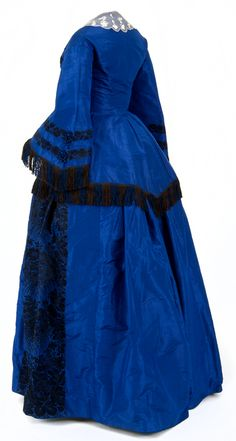 Wedding Dress, ca. 1857, American Minnessota Historical Society  Two-piece wedding dress worn by Abby Newell at her wedding to Arthur H. Mills held at Fort Snelling on October 24, 1857
