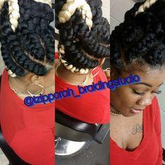 Goddess braids Fishbone Braid, Goddess Braids, Braided Hairstyles, Dreadlocks, Hair Styles, Beauty, Hair Plait Styles, Two Goddess Braids, Hair Makeup