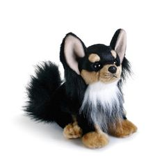 The Small Stuffed Long-haired Chihuahua by Nat and Jules is the perfect plush pup for the dog lover on the move. That's right, it's mobile friendly! Long Haired Chihuahua, Raining Cats And Dogs, Showcase Design, Bean Bag, Plushies, Pet Toys, Savannah Chat, Cuddling, Dog Lovers