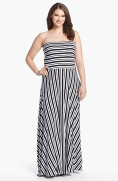 35db237953 Felicity   Coco Strapless Jersey Maxi Dress (Plus Size) (Nordstrom  Exclusive)