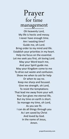Image of text for prayer for time management which guides you to seek God to place his order in your life Prayer Scriptures, Bible Prayers, Faith Prayer, God Prayer, Prayer Quotes, Power Of Prayer, Faith Quotes, Spiritual Quotes, Bible Quotes