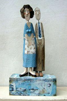 Lynn Muir *Lynn Muir wooden figures