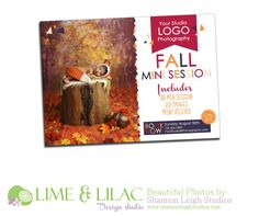 Marketing board Template Winter mini sessions Card by LimeandLilac