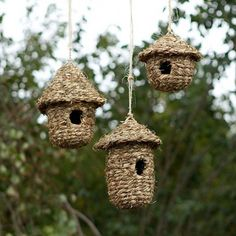 Simple and sweet, these woven grass bird nests are a welcome home for backyard birds.- Woven grass- Available in small, medium, large- ImportedSmall: Bird House Feeder, Bird Boxes, Bird Tree, Backyard Birds, My Secret Garden, Bird Feathers, Beautiful Birds, Crafty, Projects