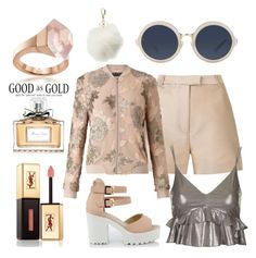 """""""gold or nude"""" by vico-style ❤ liked on Polyvore featuring Gucci, Charlotte Russe, 3.1 Phillip Lim, Topshop, Miss Selfridge, Yves Saint Laurent and Christian Dior"""