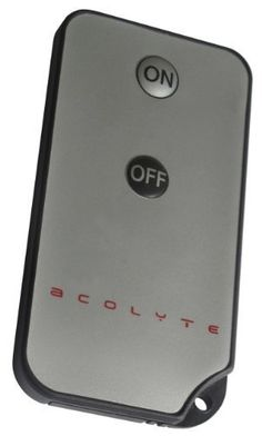 Acolyte Standard Remote Control by Acolyte. $7.00. To use with all Acolyte products marked Standard REMOTE CONTROL CAPABLE. For use with Acolyte's new Sumix Product line. Comes with key ring and loop for easy usage. Will not work with any RGB products - For use with White LED's only. Uses 1 CR2025 battery (included and replaceable). Please note: Products must be turned ON manually prior to using the remote.  Point n Party Series  New and Exciting! When you see the Poi...