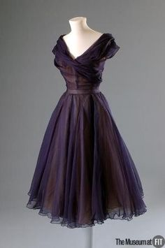 Christian Dior dress, 1950, via The Museum at FIT. #vintage #1950s #fashion by Banphrionsa