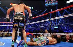 El boxeador mexicano mandó a la lona al filipino.