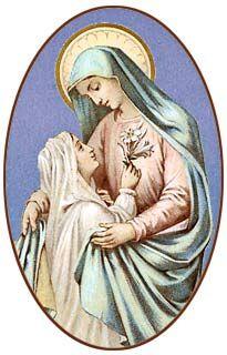 [Estampa religiosa antigua de la Virgen María]