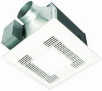 Panasonic FV-11VQL5 WhisperLite 110 CFM Ceiling Mounted Fan/Light Combination, White