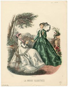 1800-1866, Plate 118. The Metropolitan Museum of Art, New York. Costume Institute. Fashion plates, 1700-1955 Costume Institute Fashion Plates. #friendship #beautifulweather |Spending the day in the park.