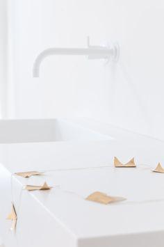 White Kitchen Faucet, Basins, Straight Lines, Handmade Design, Classic White, Plumbing, Flags, Minimalism, Bathroom