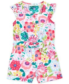First Impressions Baby Girls' Botanical-Print Romper