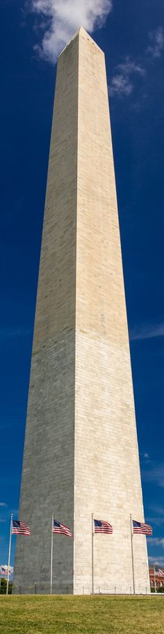 The Washington Monument in Washington, D.C. - Long, Tall, Vertical Pins.
