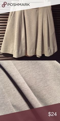 Grey high Waist flare skirt Up to the knees length/ High waisted fit/BRAND NEW/ Never been Worn/ stone grey/ with pockets/ Very comfy/ perfect for office wear/can fit sizes 3,4,5-XS,Small Joe Fresh Skirts High Low