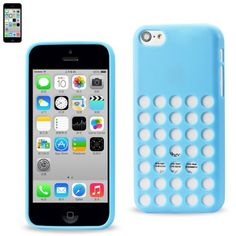 This Reiko Slim Gel Dots Skin Case For Apple iPhone 5c adds little to no weight what so ever to your phone.