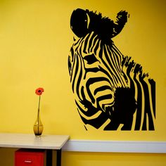 Wall Decals Vinyl Decal Sticker Animal Zebra Head Design Home Interior Decor m20