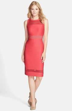 Maggy London Mesh Inset Pintuck Pleat Sleeveless Sheath available at #Nordstrom