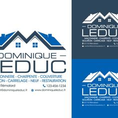 """Dominique Leduc or Leduc Dominique (""""Leduc"""" is more important than """"Dominique"""") - Créer un logo pour une entreprise individuelle de maçonnerie"""