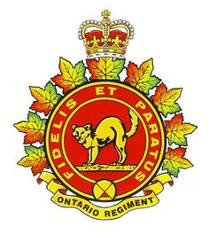 The Ontario Regiment (RCAC) [Institution militaire] Royal Canadian Navy, Canadian Army, Canadian History, Military Cap, Military Insignia, Ontario, Afghanistan War, Coat Of Arms, Armed Forces