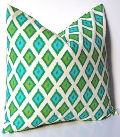 Turquoise and green pillows