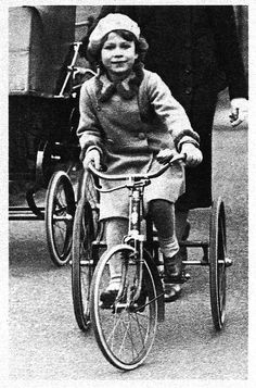 17 mar 13 [queen elizabeth as a child,   on a lovely tricycle]