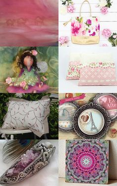 Beauties touched with pink by Bianca on Etsy--Pinned with TreasuryPin.com