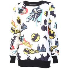 Cream Batman Sweatshirt ($6.07) ❤ liked on Polyvore featuring tops, hoodies, sweatshirts, shirts, sweaters, batman, creme shirt, cream shirt, checkered pattern shirt and check pattern shirt