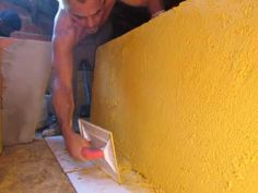 PASSANDO GRAFIATO PAREDE EM BLOCOS' PASSING grafiato WALL BLOCKS '