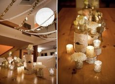 """gold theme """"gold is definitely known for being a playful color, so using it to create excitement does wonders to any casual affair. These details definitely add a little something special to an ordinary idea."""" Allison Silber"""