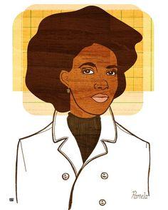 Yearbook Pamela Portrait 8X10 Art Print by thepairabirds on Etsy, $20.00