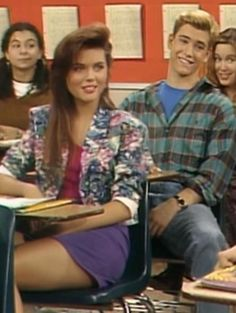 Tiffani Amber Thiessen..haha loved saved by the bell