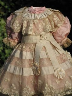 French Silk Lace Doll Dress for Antique Dolls | eBay