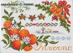 Orange theme patterns / charts for cross stitch, crochet, knitting, knotting, beading, weaving, pixel art, micro macrame, and other crafting projects.