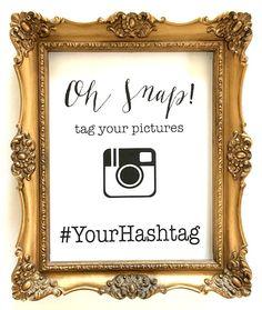 oh snap - instagram - wedding sign - custom digital printable by janetmorrin on Etsy